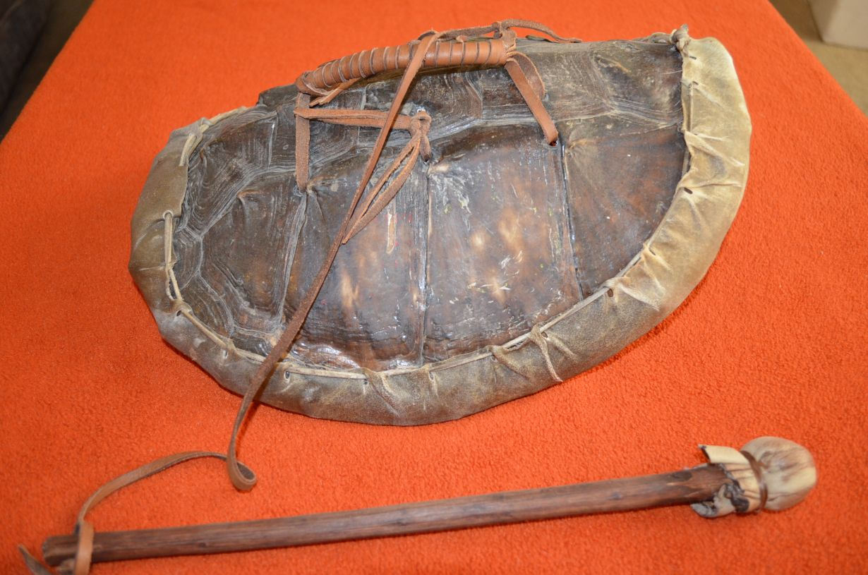 american indian wall hangings and assorted artifacts